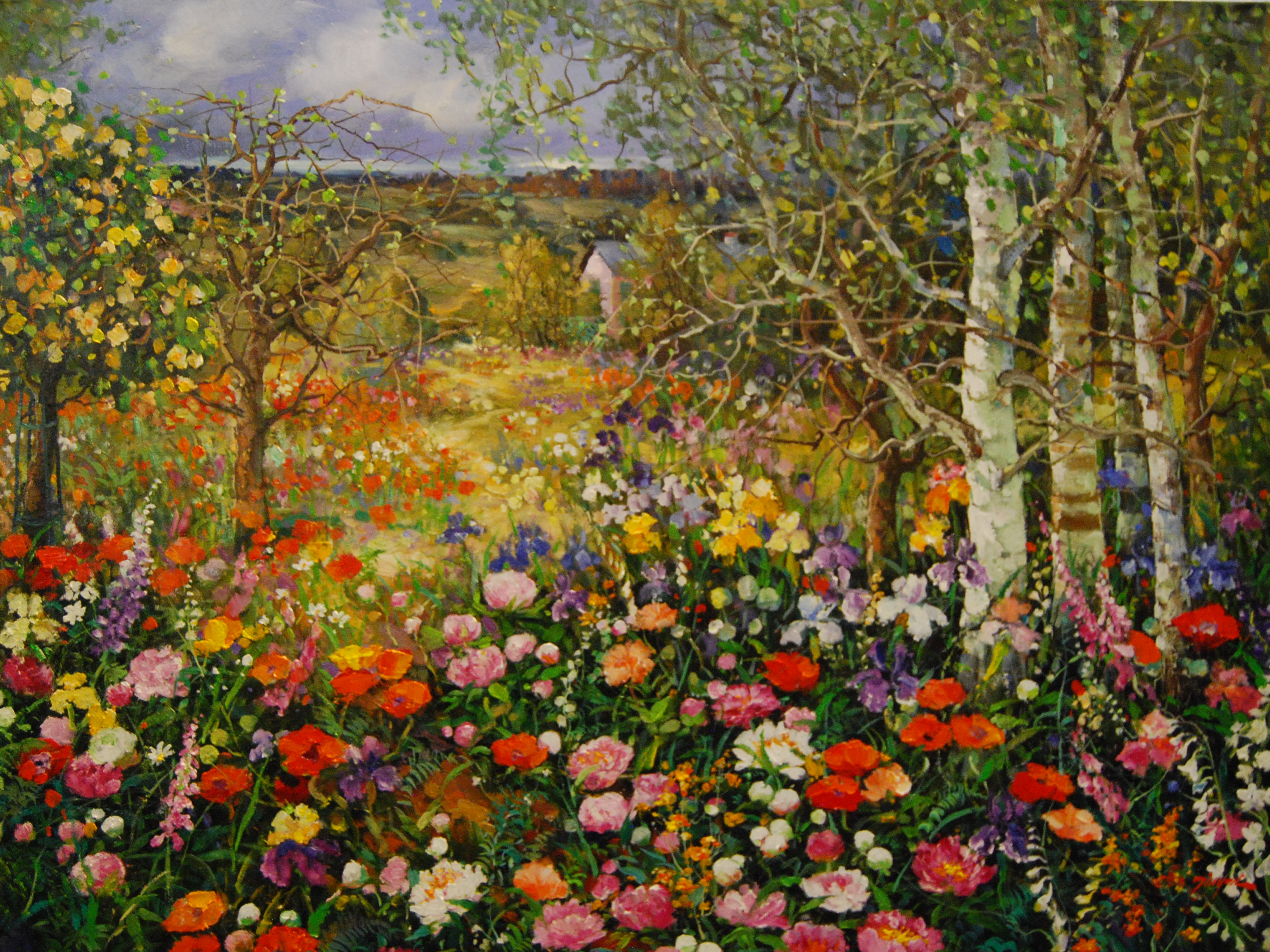 Garden Paintings By Famous Artists Garden Ftempo
