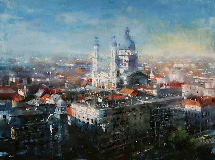 Budapest Parlament Lights  48 x 60 1 - Artists