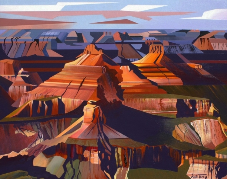 Terry canyon showdows 16x29 - Artists